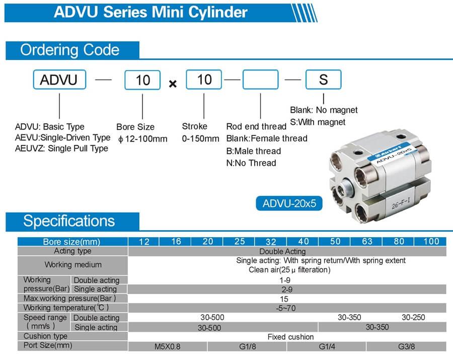 ADVU air cylinder