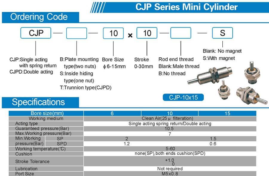 CJP Pin Neddle needle cylinder