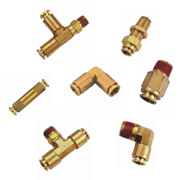 USA DOT brass brake fittings elbow fittings straight fittings npt thread push in fittings
