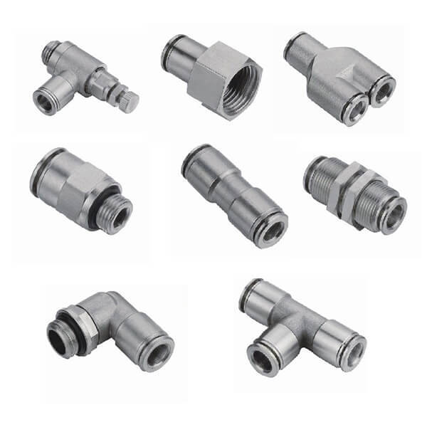 brass one touch fittings push in fittings nickle plated