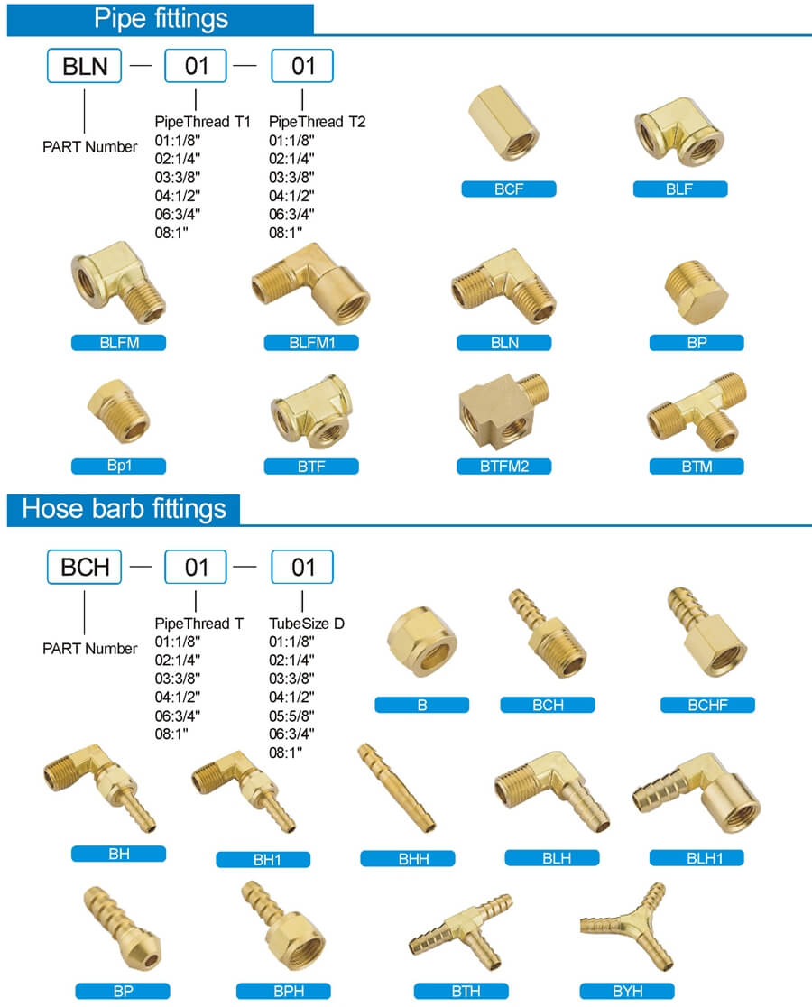 brass pipe fitting hose barb fittings
