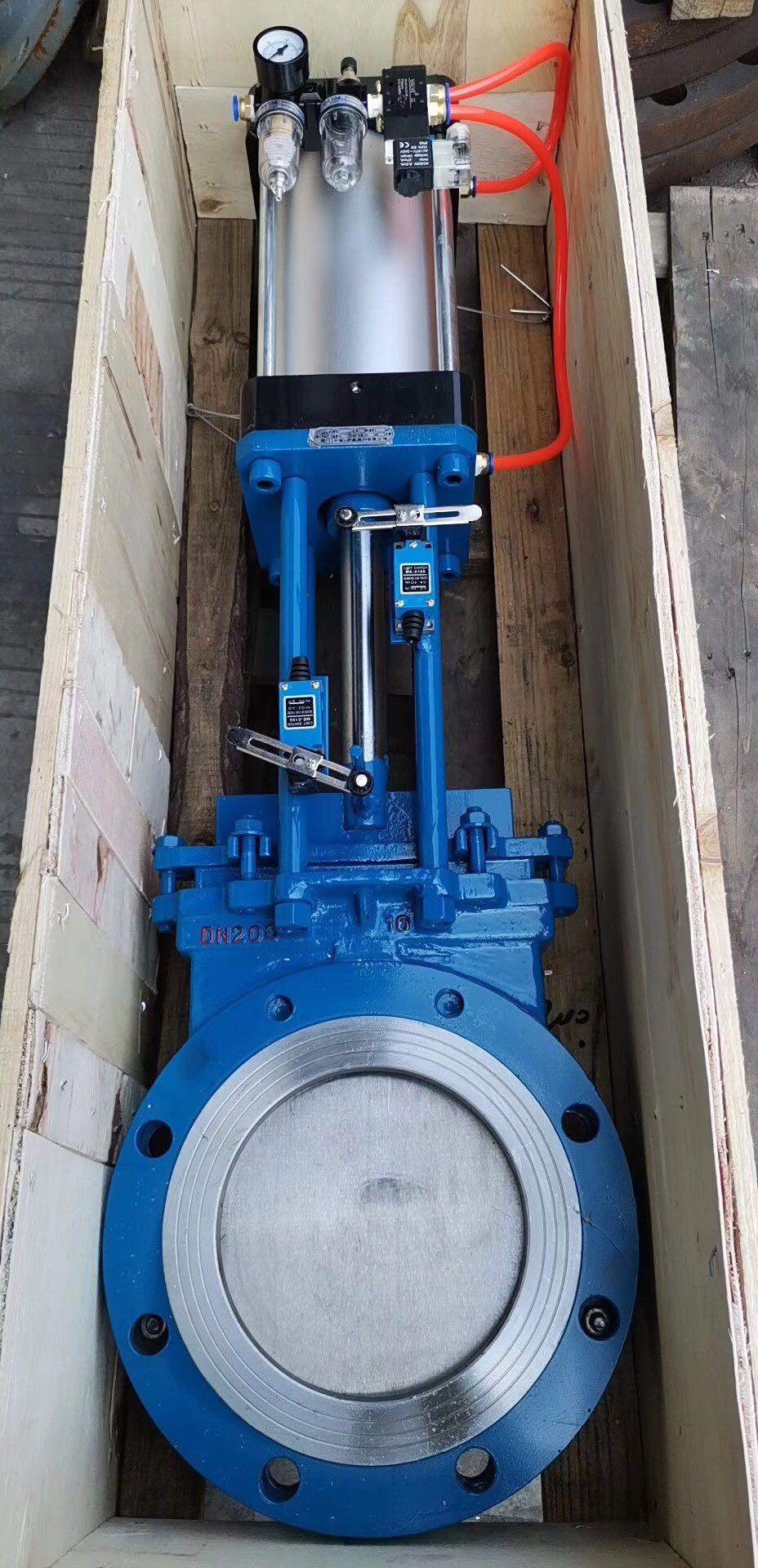 pneumatic gate valve
