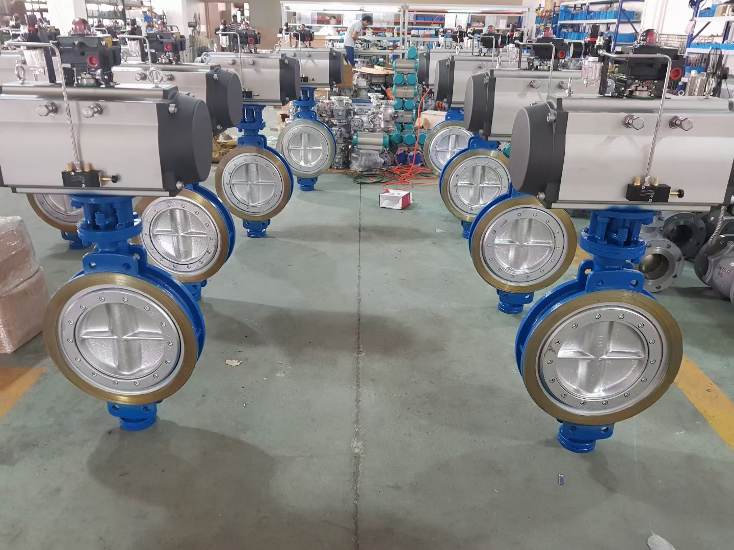 steel pneumatic actuated butterfly valve